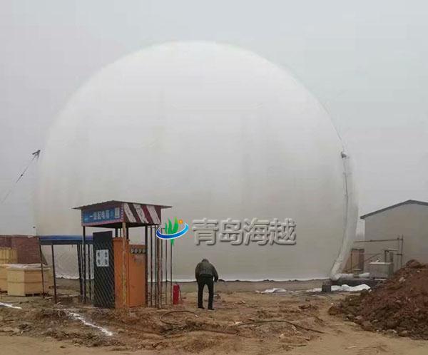 新疆大型养殖场1000立方双膜储气柜沼气发电项目