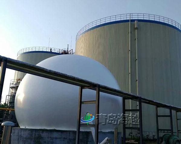 山东省饮料厂家500立方污水处理独立膜式气柜项目