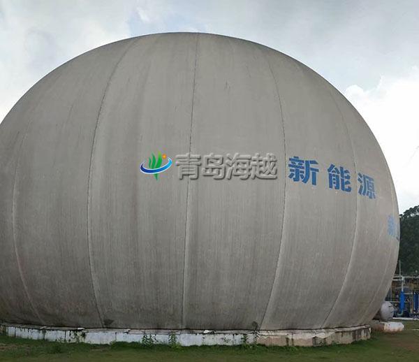 广西玉林陆川3000立方沼气发电独立双膜沼气柜项目