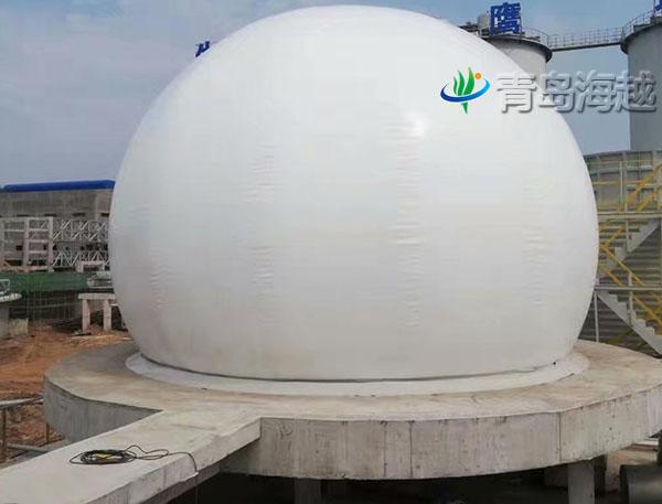 湖北荆门造纸厂500立方小型双膜沼气稳压柜项目