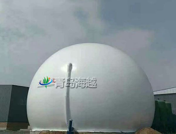 海越河北省唐山市秸秆生物质气化发电双膜储气罐项目图片