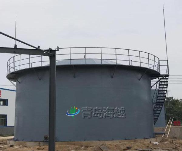 海越山东济宁尚儒弘毅化工500立方氢气湿式气柜项目图片