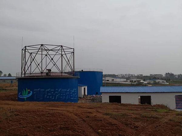 海越安徽阜阳畜牧养鸭场400立方沼气湿式储气柜项目图片