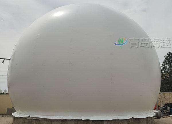 河北石家庄皮革厂沼气柜500立方双膜储气柜项目