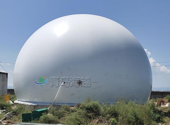 山西蒲县养猪场双膜气柜600立方沼气柜工程案例图片