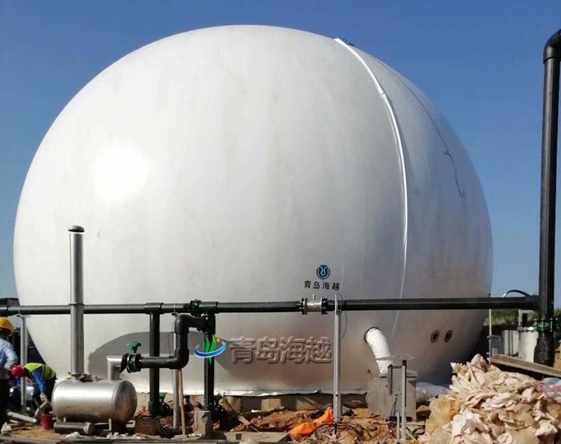 江西九江1000立方双膜储气柜垃圾渗滤液处理厂项目