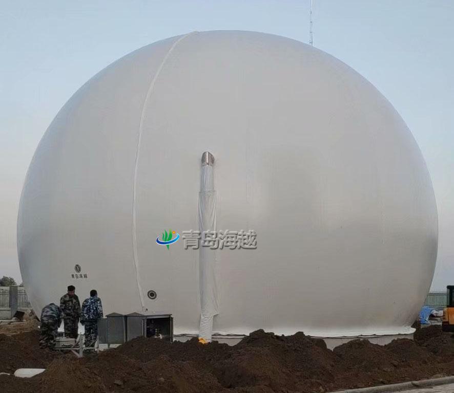 河北南宫牧场粪污厌氧发酵落地式双膜沼气柜项目