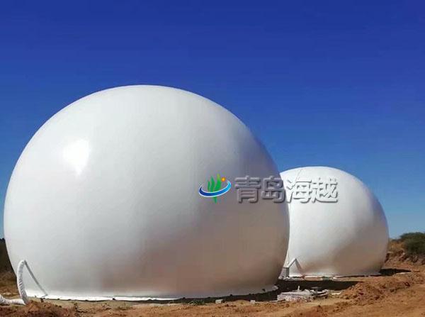 辽宁辽阳大型生物质燃气2000立方双层膜式沼气柜工程案例图片