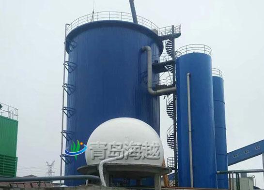 海越UASB搪瓷厌氧沼气拼装罐如何能耐碱抗强酸腐蚀?