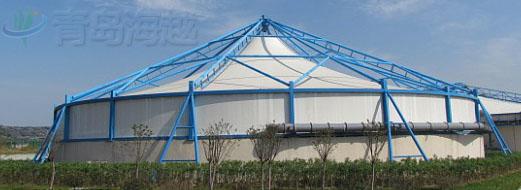 污水池加盖除臭反吊膜结构样式哪款适合您